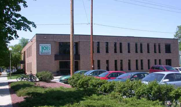 The Brown County Job Center is located just east of downtown  Green Bay at 701 Cherry Street .