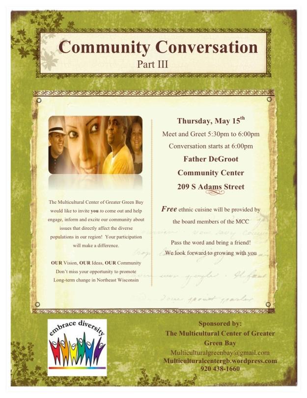 Community converation III Flyer